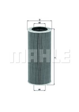 Olejový filtr Bmw 330d, 530d, 525d, 535d MAHLE