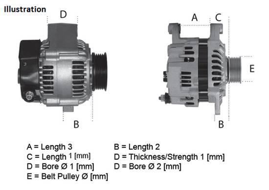 Alternátor Bmw 318d, 320d, 330d, 330Xd, Land Rover Freelander
