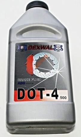 Brzdová kapalina DOT4 0,5l Dexwal
