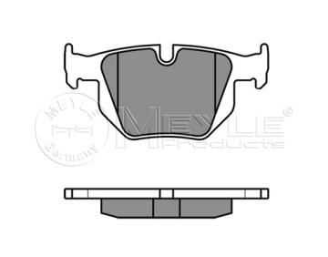 Brzdové desky zadní Bmw 3 E90, E91, brzdové desky meyle