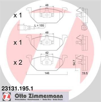 Brzdové desky přední Zimmermann, Octavia, Fabia, 1K0698151F s výstražným kontaktem