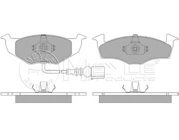 Brzdové desky přední, Škoda Fabia, Vw Polo s výstražným kontaktem