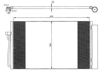 Chladič klimatizace Bmw 520d, 525d, 530d, 535d E60, E61, 635d, 730d, 7