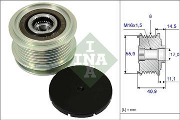 Předstihová spojka alternátoru 1.9 TDI, 2.0 TDI, 1.8T, 1.6, 1.4 TDI, 038903119A