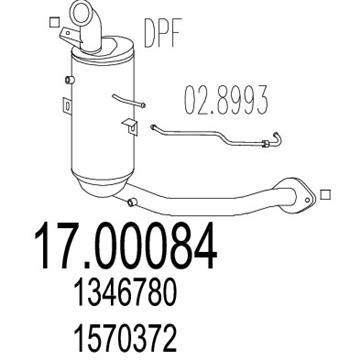 Filtr pevných částic DPF Ford Focus 1.6 TDCI DURATORQ 1570372, 1556097