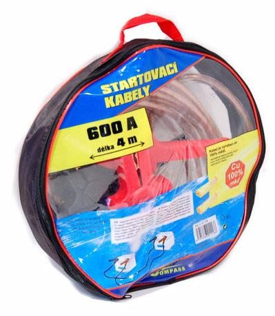 Startovací kabely 600A 4m, měděné startovací kabely