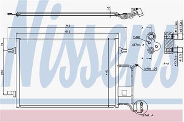 Kondenzátor, chladič klimatizace 1.9 TDI Audi A4, Passat, Superb, 8D0260403G