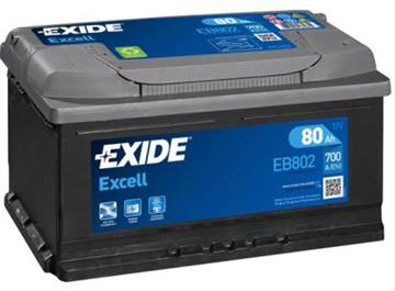 Autobaterie Exide Excell 80Ah 700A Excell