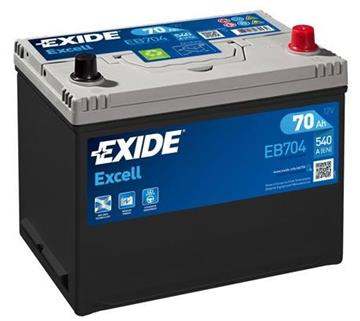 Autobaterie Exide Excell 70Ah 540A Excell