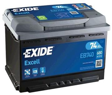 Autobaterie Exide Excell 74Ah 680A Excell