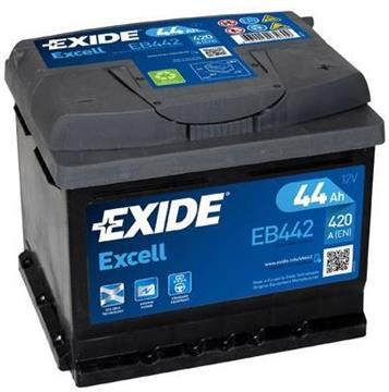Autobaterie Exide Excell 44Ah 420A Excell