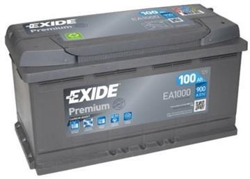 Autobaterie Exide Premium 100Ah 900A, autobaterie Exide Premium
