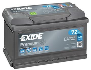 Autobaterie Exide Premium 72Ah 730A, autobaterie Exide Premium