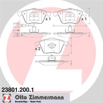 Brzdové desky přední Zimmermann, Audi A3, A4, A6, Superb II, Leon, 1K0698151B pro brzdový kotouč 347 mm