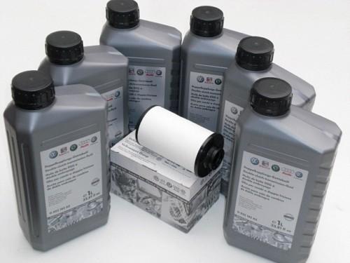 G052182A2, sada na výměnu oleje v DSG, filtr 02E305051C kompletní kit včetně filtru