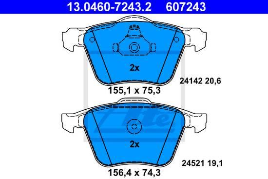 Brzdové desky přední ATE. Ford S-MAX, Galaxy 2.2 TDCI, 2.0 SCTI, Volvo, 1431178