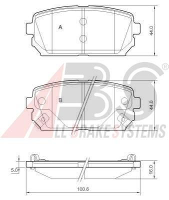 Zadní brzdové desky Hyundai Accent, i10, i20, ix20, i30, Kia Ceed, 58302-1DA00