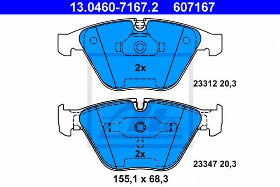 Přední brzdové desky ATE, Bmw E90 M3, M GTS, E60, E61, 630i, 645ci, E65, E66