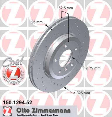 Přední vrtaný kotouč Bmw Z4, E46 325i, 330i, 330d, 330CI, 330Cd