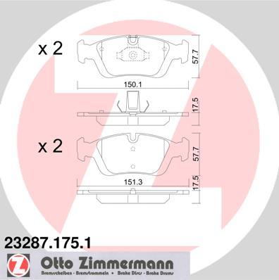 Přední brzdové desky Zimmermann Bmw E46, E36, Z4, Z3, 34116761244