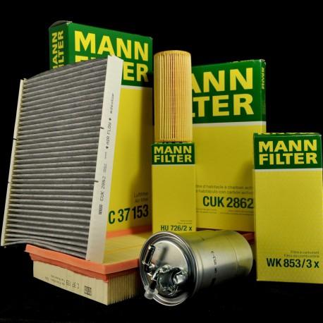 Sada filtrů MANN VW, Audi, Seat, Škoda 1.9 TDI PD, 2.0 TDI, 2.5 TDI inspekční kit