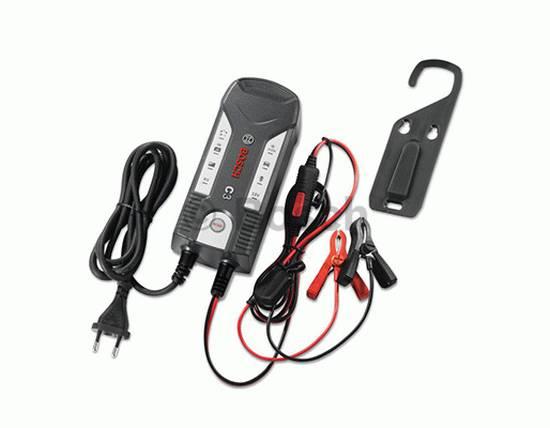 Nabíječka motobaterie, autobaterie, AGM, Bosch C3