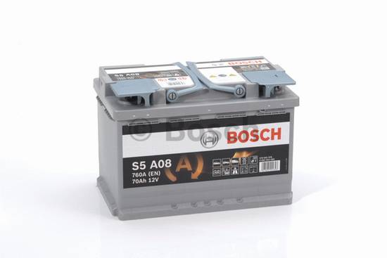 Autobaterie AGM Bosch 70Ah 760A, technologie AGM, start stop