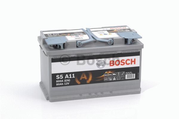 Autobaterie AGM Bosch 80Ah 800A, technologie AGM, rekuperace