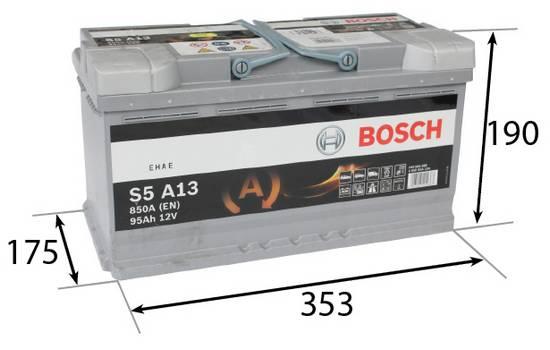Autobaterie AGM Bosch 95Ah 850A