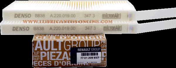 Kabinový, pylový filtr Renault Kangoo, Master, Vivaro, 289300743R