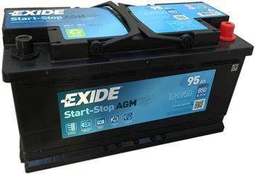 Autobaterie start stop AGM Exide 95Ah 850A