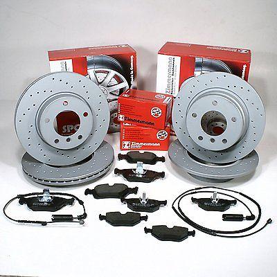 Set sportovní vrtané brzdové kotouče a desky Bmw E39, E39 Touring
