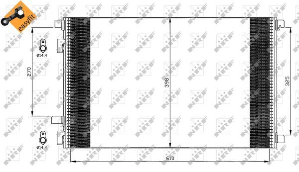 Chladič, kondenzátor klimatizace Renault Scenic, Megane II, Grand Scenic