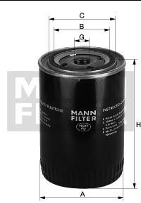 Olejový filtr Favorit/Felicia MANN
