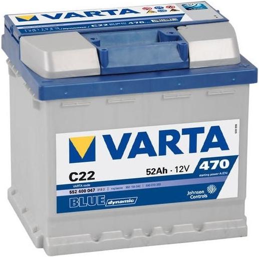Varta Blue Dynamic 52 Ah 12v 52 Ah 470 A