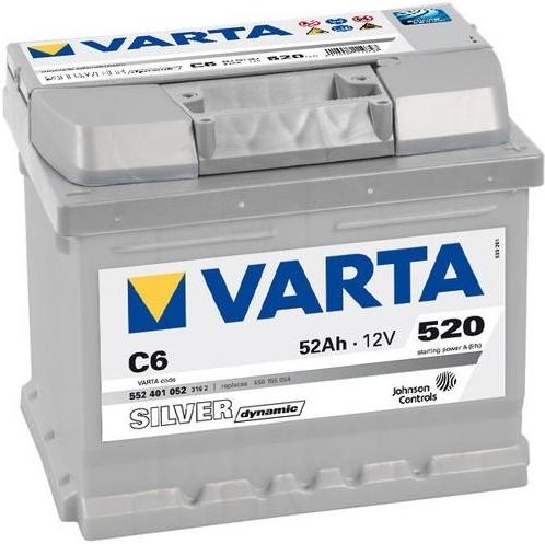 Varta Silver Dynamic 52 Ah 12v 52 Ah 520 A