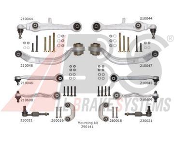 Sada ramen přední nápravy Audi A4, A6, Passat 8D0498998 Průměr čepu 21 mm