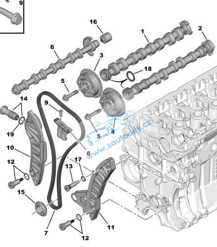 Rozvody Retez Bmw 114i 116i 118i Peugeot 1 4 16v Citroen Ds3 Ds4