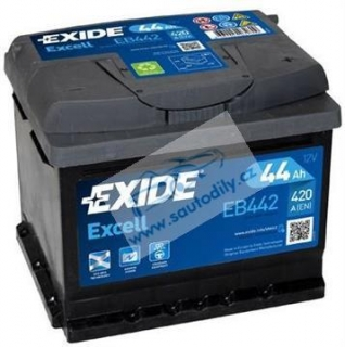 Autobaterie Exide Excell 44Ah 420A