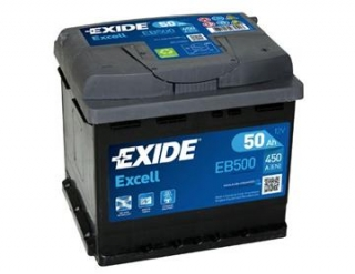 Autobaterie Exide Excell 50Ah 450A