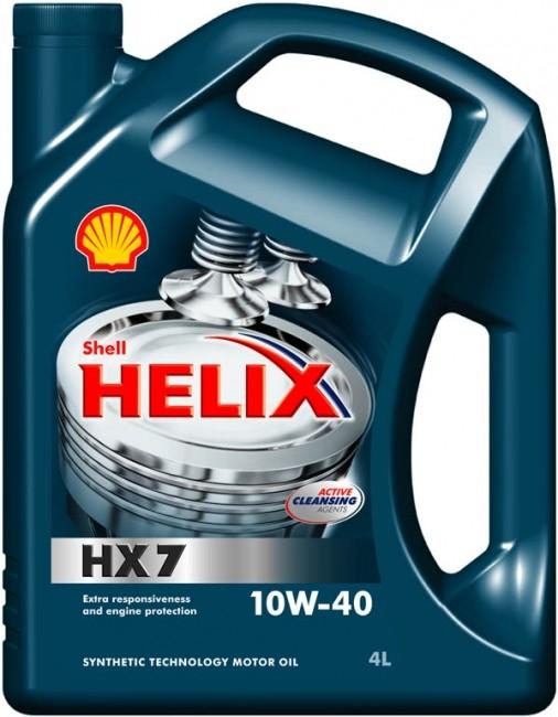 Shell Helix HX7 10W-40 4L Polosyntetický motorový olej, 4L