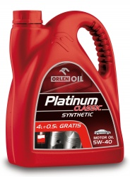 Orlen Platinum 5W40 4L + 0,5L Zdarma PLně syntetický motorový olej 4,5L