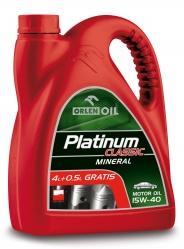 Orlen 15w40 4L Platinum classic + 0,5L zdarma Celoroční minerální motorový olej