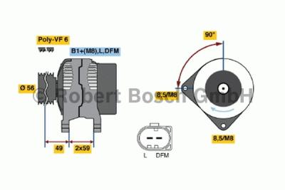 Alternátor Bosch 1.6Tdi, 2.0 FSI, TFSI, 2.0 TDi Originální
