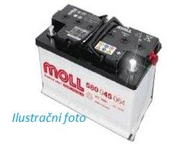 Autobaterie Moll 74 Ah 680 A 12V, 74 Ah, 680 A