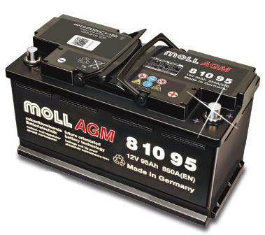 Autobaterie Extra Moll 95 Ah 850 A 12V, 95 Ah, 850 A Extra Power