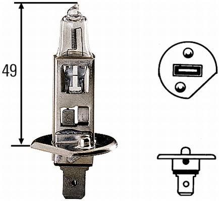 Autožárovka H1 HELLA, žárovka H1, žárovka hlavní světlomet