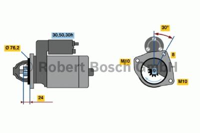 Startér Bosch BMW E36, E46 320i, 323i, 328i, 318i, 316i - výměnný díl