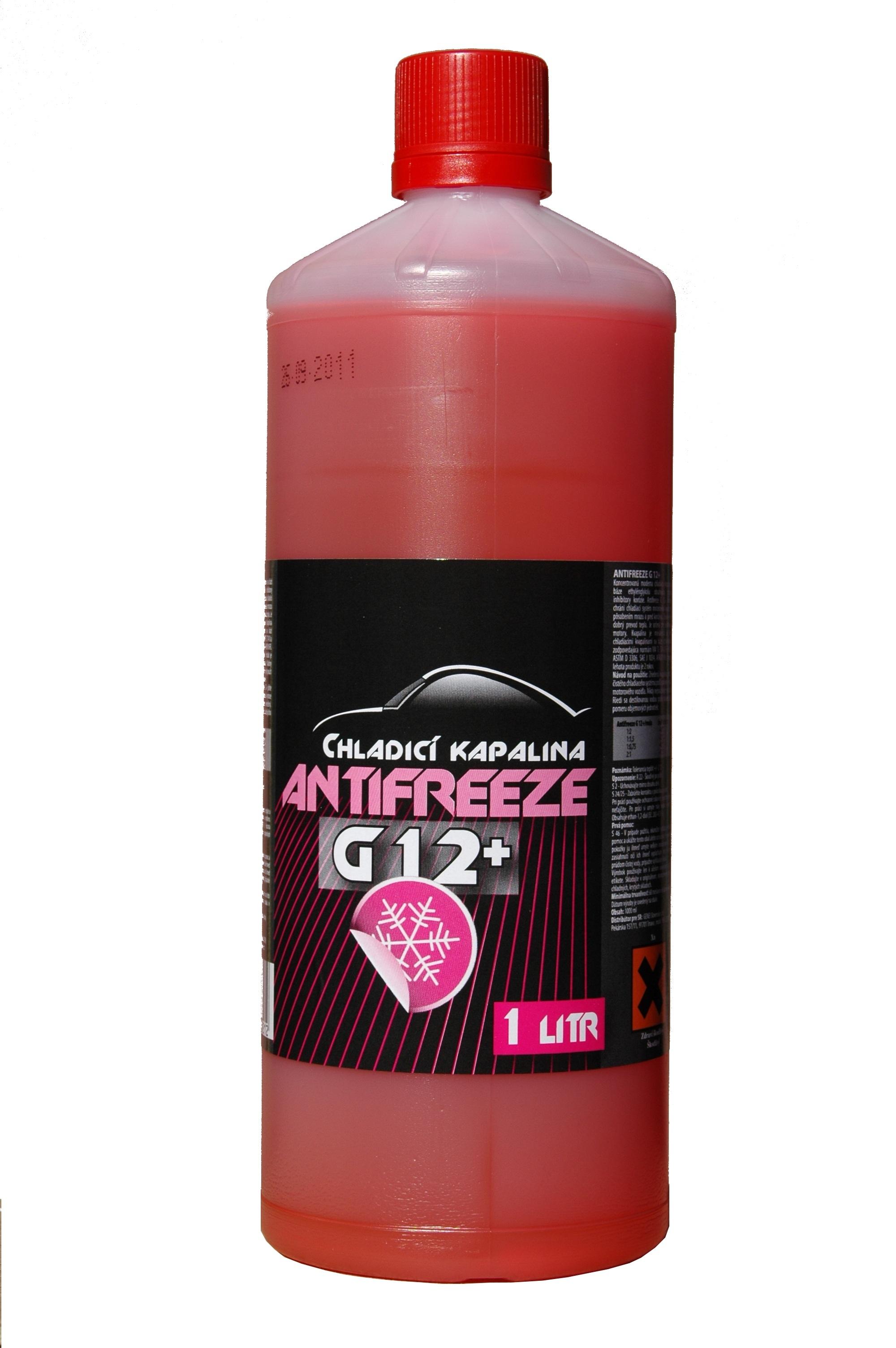 Chladící kapalina G12+, nemrznoucí směs do chladiče červená